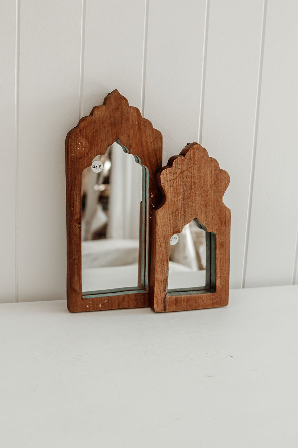 Small Timber framed mirrors
