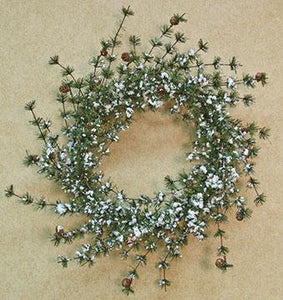Snowy Brush Pine Wreath - 24""