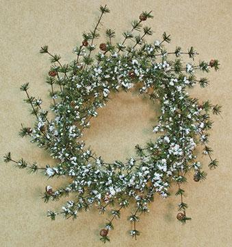 Snowy Brush Pine Wreath - 24