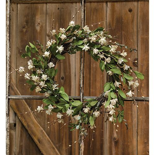 Teastain Gardenia /Twig Wreath
