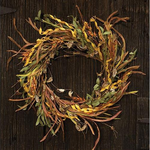 Fall Wheat & Grass Wreath, 20""
