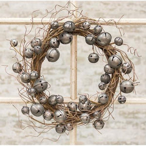 Vintage Galvanized Bell Wreath