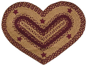 Wine Star Heart Rug, 20x30
