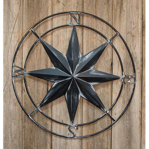 "*^30"" Compass Rose Wall Decor"