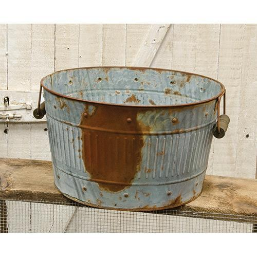 Rusty/Galvanized Medium Round Tub