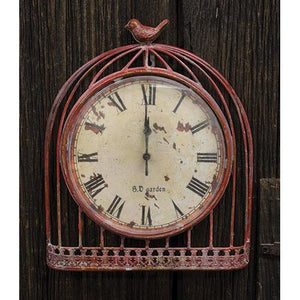 *Red Bird Vintage Clock
