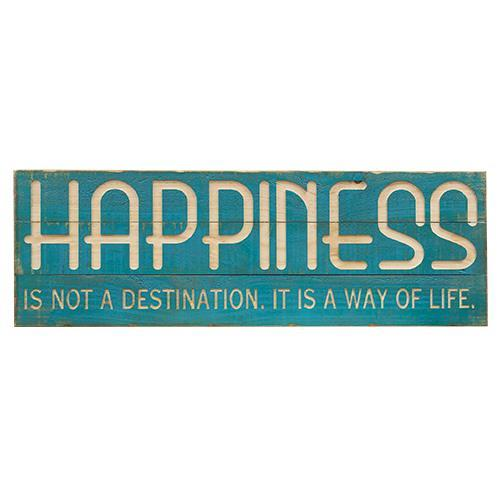 *Happiness Wood Sign