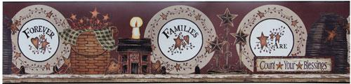 *Family Forever Plates Wall Border