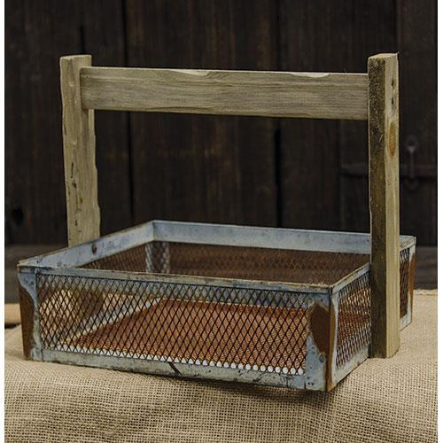Galvanized Wire Basket w/Handle