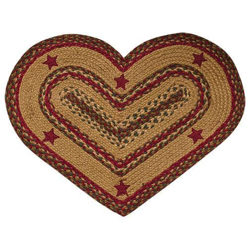 Cinnamon Star Heart Rug 20x30