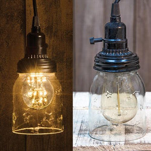 "5""  Mason Jar Lamp w/Adapter"