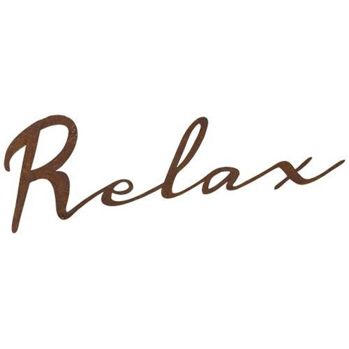 Relax Rustic Metal Sign