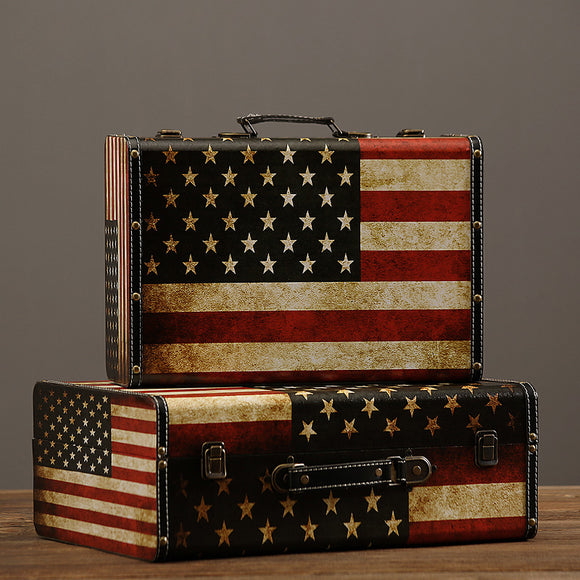 American Flag Decorative Suitcase
