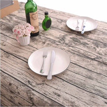 Rustic Cotton Wood Grain Tablecloth
