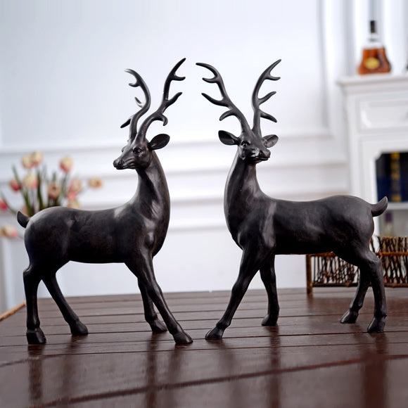 Resin deer ornament /living room decoration.
