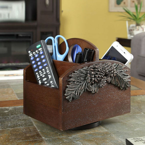 Pine cone adjustable and rotatable organizer.