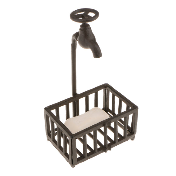 Rustic Vintage Metal Soap Holder Handmade Soap Dish Stand for Home Decor Art Display