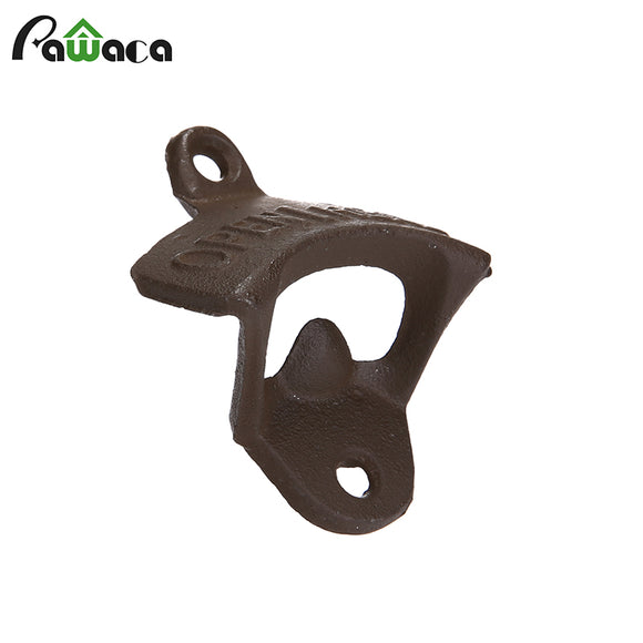Wall-mounted Cast Iron OPEN HERE Bottle Opener Durable Beer Openers For Bar Cabin With Screws