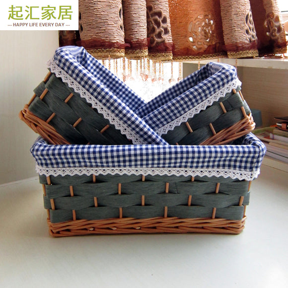 Rattan Storage Baskets - (Multiple Sizes)