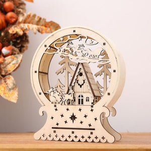 LED Holiday / Christmas Wood House Decorations