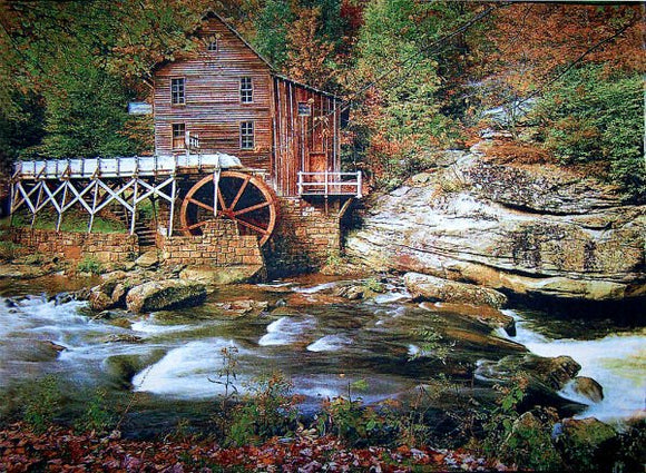 Wall Tapestry of Cabin Beside Cliff