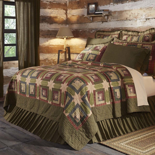 Rustic & Lodge Bedding Cabin Green Quilt