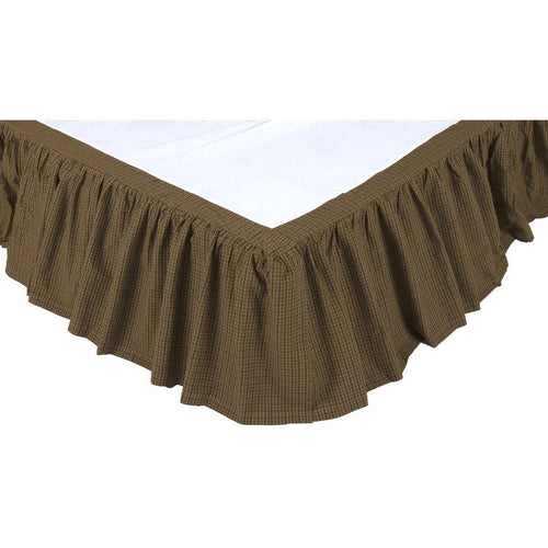 Rustic & Lodge Bedding Cabin Green Bed Skirt