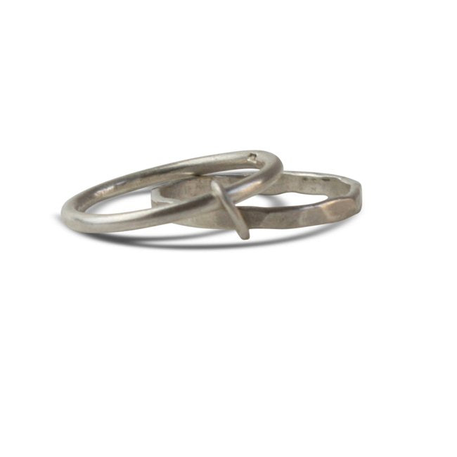 Double Loops Ring Silber