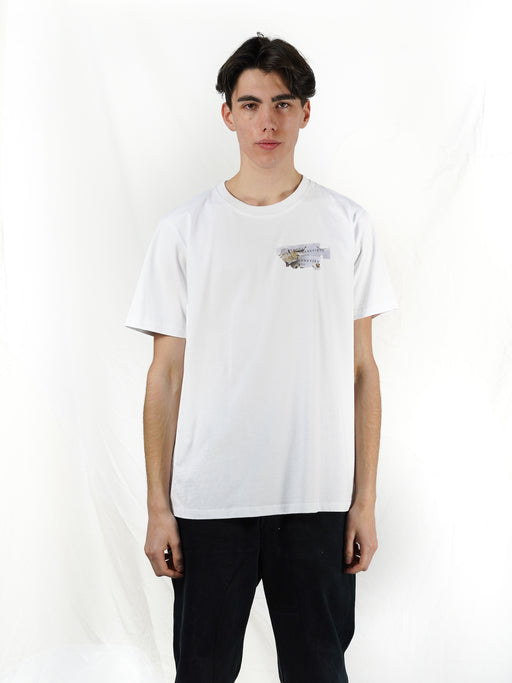 WHITE BURN T-SHIRT