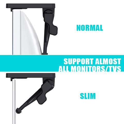 Supports most monitors/TVs