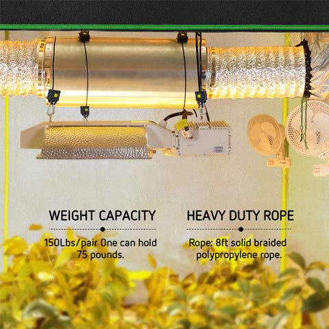 Features of 1/8 Inch, 8-feet Adjustable Rope Clip Hanger