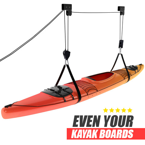 Lift even your kayak boards