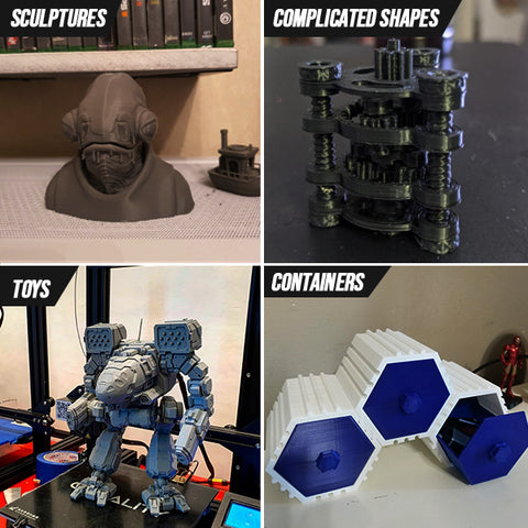 Print different 3D objects
