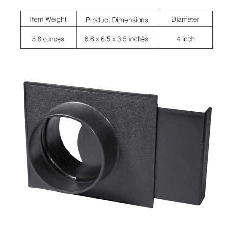 Specifications of 4-Inch Blast Gate for Dust Collector/Vacuum Fittings