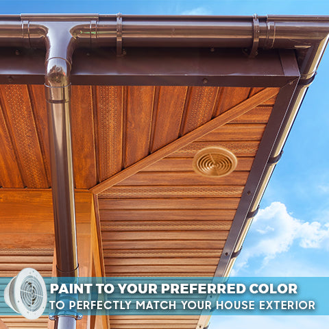Paintable 4, 5, and 6 inch Soffit Exhaust Vent