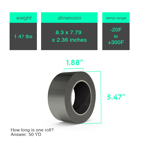 Product Dimensions and Item Weight of Aluminum Duct Tape