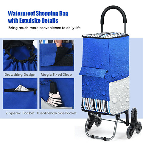Waterproof Foldable Stair Climbing Cart with more features