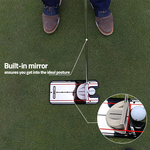 Ensures your proper putting posture with Golf Putting Alignment Mirror