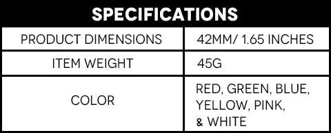 Glow In The Dark LED Golf Balls Specifications