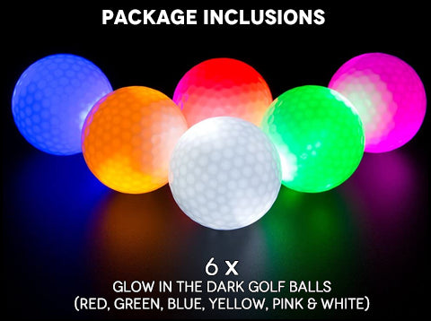 Glow In The Dark LED Golf Balls Package Inclusions