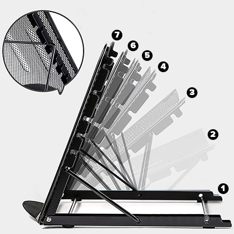 7 Adjustable Position of Laptop and Tablet Stand
