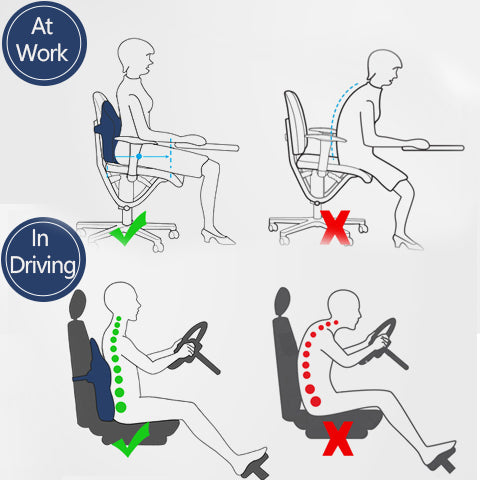 How Lumbar Support Pillow Helps You when Driving and Sitting
