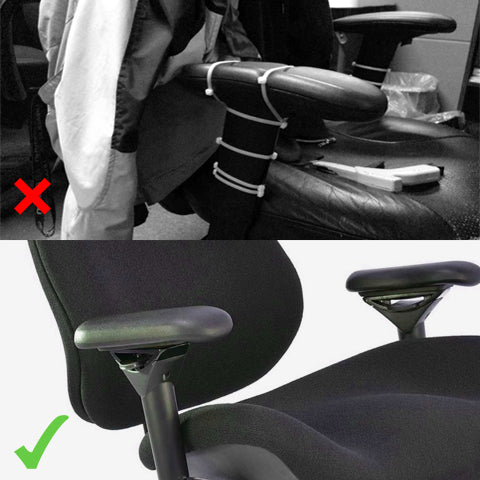 Using defective armrests VS using our Office Chair Armrest Pads Replacement