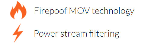 Fireproof MOV and EMI/RFI fIltering.