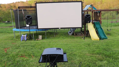 Prepare your projector, sound system, and screen
