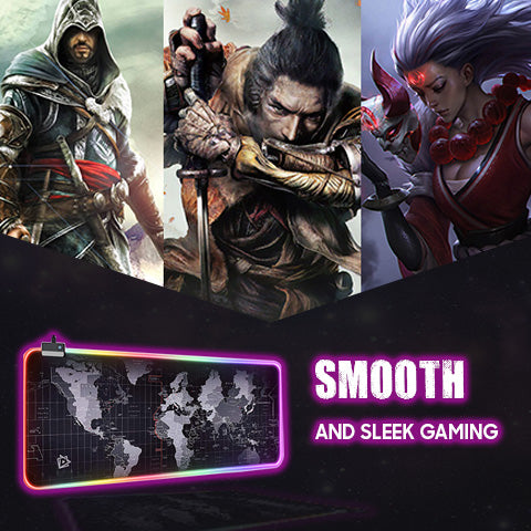 Smooth and Sleek Gaming with RGB Gaming Mouse Pad