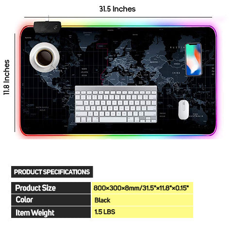 RGB Gaming Mouse Pad Product Specifications