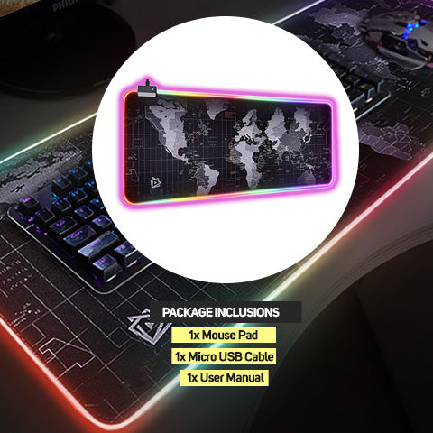 RGB Gaming Mouse Pad Package Inclusions