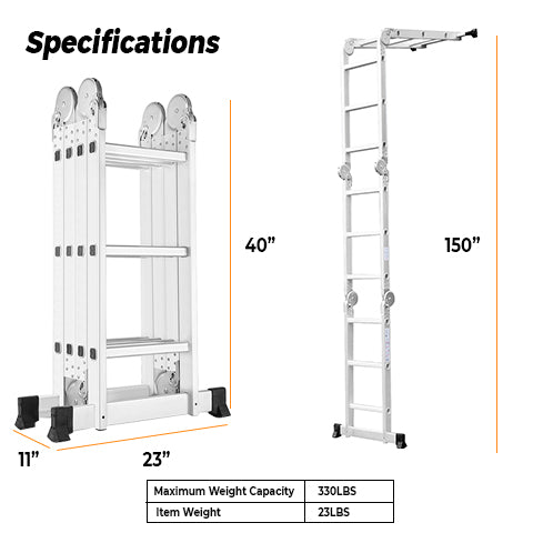 Specifications of Multipurpose Ladder