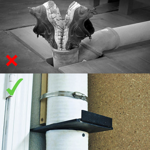 Comparison Picture of using a 4-Inch Blast Gate for Dust Collector/Vacuum Fittings
